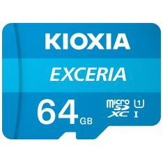 TARJETA MEMORIA MICRO SECURE DIGITAL SD KIOXIA 64GB EXCERIA UHS-I C10 R100 CON ADAPTADOR