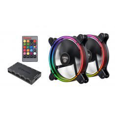 PACK VENTILADORES ENERMAX GAMING RGB 2X14CM
