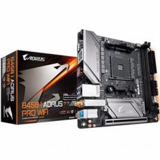PLACA BASE GIGABYTE AM4 B450 I AORUS PRO WIFI M-ITX / 2XDDR4 / 4XSATA3 / USB3.0 FP