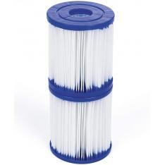 Bestway 58093 - Filtro de Agua Tipo I para Depuradora de Cartucho 1.249 litros/hora Blanco 8 x 8 x 18 cm