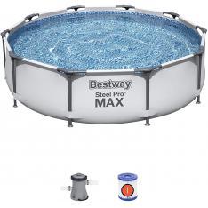 Bestway 56408 - Piscina Desmontable Tubular Steel Pro Max con Depuradora Cartucho 1.249 L/H