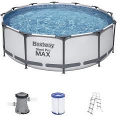Bestway 56418 - Steel Pro MAX Marco de Acero Gris
