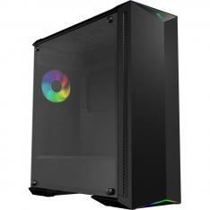 CAJA ORDENADOR TORRE E-ATX MSI MPG GUNGNIR 100 NEGRO 1XVEN 120MM RGB / CONTROL RGB / LATERAL CRISTAL TEMPLADO