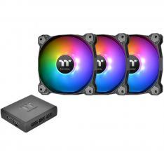KIT DE VENTILADORES 140X140 THERMALTAKE PURE PLUS 14 RGB TT P3UDS PACK 3 UNIDADES/ 1500 RPM