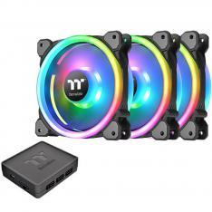 KIT DE VENTILADORES 120X120 THERMALTAKE RIING TRIO 12 RGB TT PACK 3 UNIDADES/ 1500 RPM