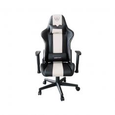 SILLA GAMING KEEP OUT RACING PRO WHITE INCLUYE COJINES CERVICAL