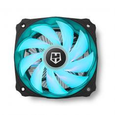 VENTILADOR DISIPADOR CPU COMPACTO NOX HUMMER H-123 RGB INTEL AMD