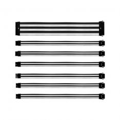 KIT EXTENSION CABLES COOLERMASTER BLANCO/NEGRO MALLADOS/1X24P/1X4 4P 1X8P/2X6 2P/2X8PIN/30CM