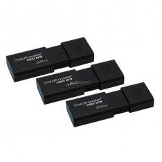 MEMORIA USB 3.0 KINGSTON 32GB DATATRAVELER 100 G3 NEGRO PACK 3 UNIDADES