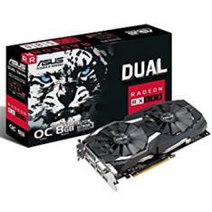 TARJETA GRAFICA ASUS AMD RADEON DUAL-RX580-O8G 8GB GDDR5 DVI HDMI DISPLAY PORT