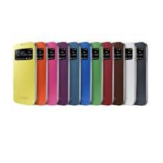 FUNDA FLIP COVER CON PANTALLA FRONTAL PARA SMARTPHONE SAMSUNG GALAXY S4 BLANCA