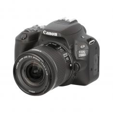 CAMARA DIGITAL REFLEX CANON EOS 200D + 18-55STM CMOS/ 24.2MP/ DIGIC 7/ 9 PUNTOS DE ENFOQUE/ NEGRO