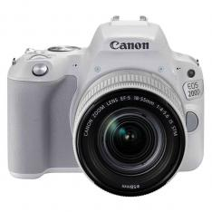 CAMARA DIGITAL REFLEX CANON EOS 200D + 18-55STM CMOS/ 24.2MP/ DIGIC 7/ 9 PUNTOS DE ENFOQUE/ BLANCO
