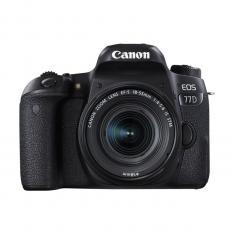 CAMARA DIGITAL REFLEX CANON EOS 77D + EF-S 18-55 IS STM NEW/ CMOS/ 24.2MP/ DIGIC 7/ 45 PUNTOS DE ENFOQUE/ FULL HD/ WIFI/ NFC/ BLUETOOTH