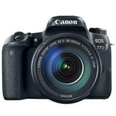CAMARA DIGITAL REFLEX CANON EOS 77D + EF-S 18-135MM F3.5-5.6 IS NANO USM/  CMOS/ 24.2MP/ DIGIC 7/ 45 PUNTOS DE ENFOQUE/ FULL HD/ WIFI/ NFC/ BLUETOOTH