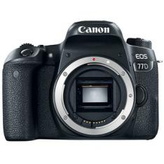 CAMARA DIGITAL REFLEX CANON EOS 77D BODY (SOLO CUERPO) CMOS/ 24.2MP/ DIGIC 7/ 45 PUNTOS DE ENFOQUE/ FULL HD/ WIFI/ NFC/ BLUETOOTH