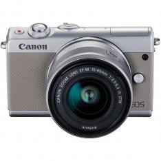 CAMARA DIGITAL REFLEX CANON EOS M100 M15-45 S   CMOS  24.2MP  DIGIC 7  FULL HD  WIFI  NFC  BLUETOOTH  GRIS