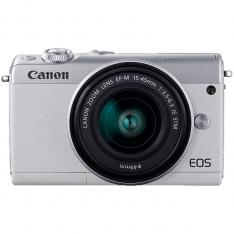 CAMARA DIGITAL REFLEX CANON EOS M100 + M15-45 S  CMOS  24.2MP  DIGIC 7  FULL HD  WIFI  NFC  BLUETOOTH  BLANCO