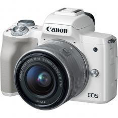 CAMARA DIGITAL REFLEX CANON EOS M50 M15-45 S/ CMOS/ 24.1MP/ DIGIC 8/ VIDEOS 4K/ WIFI/ NFC/ BLUETOOTH/ BLANCO