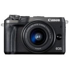 CAMARA DIGITAL REFLEX CANON EOS M6 EF-M15-45MM IS STM CMOS/ 24.2MP/ DIGIC 7/ FULL HD/ WIFI/ NFC/ BLUETOOTH/ NEGRO