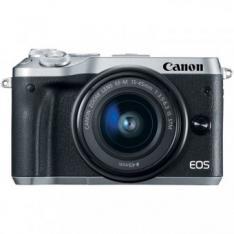 CAMARA DIGITAL REFLEX CANON EOS M6 EF-M15-45MM IS STM CMOS/ 24.2MP/ DIGIC 7/ FULL HD/ WIFI/ NFC/ BLUETOOTH/ PLATA