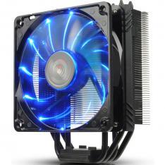 VENTILADOR DISIPADOR GAMING MODDING NEGRO ENERMAX ETS-T40F-BK BLACK TWISTER PARA INTEL AMD 1X12CM LED AZUL