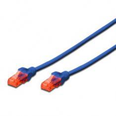 CABLE RED EWENT LATIGUILLO RJ45 UTP CAT6 0.5M AZUL