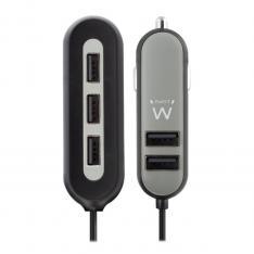CARGADOR USB EWENT PARA COCHE/ 5 PUERTOS/ 54W