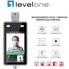 CAMARA IP LEVEL ONE FCS-7703 CON MEDICION DE TEMPERATURA Y RECONOCIMEINTO FACIAL FULL HD