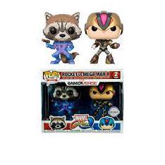 Funko Pop Pack Marvel vs Capcom Rocket vs Mega Man X
