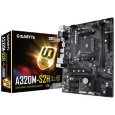 PLACA BASE GIGABYTE AMD A320M-S2H  SOCKET AM4  USB 3.1  DDR4  HDMI  DVI-D  VGA