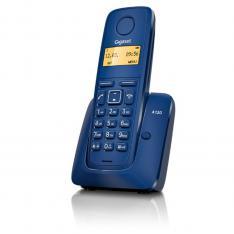 TELEFONO FIJO INALAMBRICO GIGASET A120 AZUL 50 NUMEROS AGENDA/ 10 TONOS