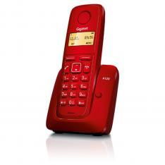 TELEFONO FIJO INALAMBRICO GIGASET A120 ROJO 50 NUMEROS AGENDA/ 10 TONOS