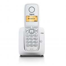 TELEFONO FIJO INALAMBRICO GIGASET A120 BLANCO 50 NUMEROS AGENDA/ 10 TONOS