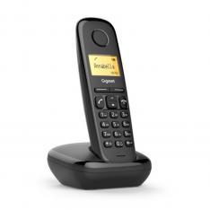 TELEFONO FIJO INALAMBRICO GIGASET A170 NEGRO 50 NUMEROS AGENDA/ 10 TONOS