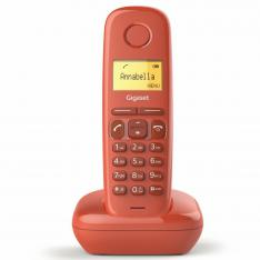TELEFONO FIJO INALAMBRICO GIGASET A170 ROJO 50 NUMEROS AGENDA/ 10 TONOS