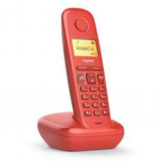 TELEFONO FIJO INALAMBRICO GIGASET A270 ROJO 80 NUMEROS AGENDA/ 10 TONOS