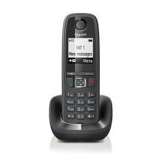 TELEFONO FIJO INALAMBRICO GIGASET AS405 NEGRO 100 NUMEROS AGENDA/ 20 TONOS/ MANOS LIBRES