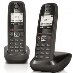 TELEFONO FIJO INALAMBRICO GIGASET AS405 DUO NEGRO 100 NUMEROS AGENDA/ 20 TONOS/ MANOS LIBRES