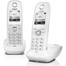 TELEFONO FIJO INALAMBRICO GIGASET AS405 DUO BLANCO 100 NUMEROS AGENDA/ 20 TONOS/ MANOS LIBRES