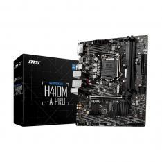 PLACA BASE MSI INTEL H410M-A-PRO SOCKET 1200 DDR4 X2 MAX 64GB 2933MHZ HDMI DVI-D MATX