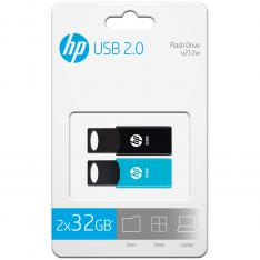 PACK DE 2 MEMORIAS USB 2.0 HP V212/TWIN 32GB