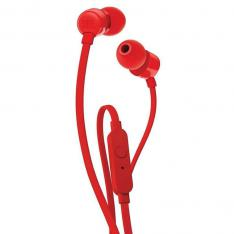 AURICULARES INTRAUDITIVOS JBL T110 RED / PURE BASS / DRIVERS 9MM / CABLE PLANO / MANOS LIBRES