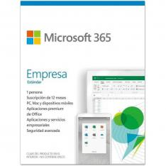 MICROSOFT OFFICE 365 EMPRESA ESTANDAR 1 LICENCIA 1 AÑO CAJA (NEW)