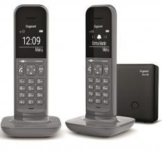 TELEFONO FIJO INALAMBRICO GIGASET CL390 DUO GRIS