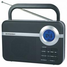 RADIO DIGITAL SCHNEIDER HANDY NEGRO/ ALARMA