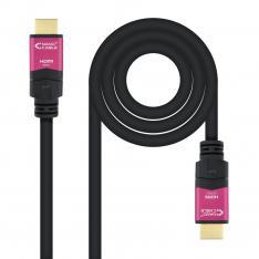CABLE HDMI NANOCABLE V2.0 4K@60HZ 18 GBPS CON REPETIDOR A/M-A/M NEGRO 15 M