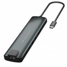 ADAPTADOR CONCEPTRONIC USB TIPO C 9 EN 1 HDMI/ USB-C/ PD/ USB 3.0/ SD/ MICRO SD/ RJ45