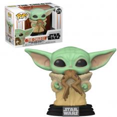 FUNKO POP STAR WARS THE MANDALORIAN BABY YODA CON RANA 49932