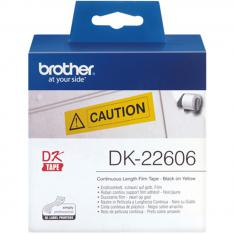 ETIQUETAS CINTA CONTINUA BROTHER AMARILLA DK22606 62MM